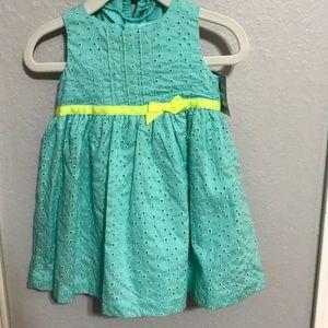 Carters Mint Green Dress 9 months